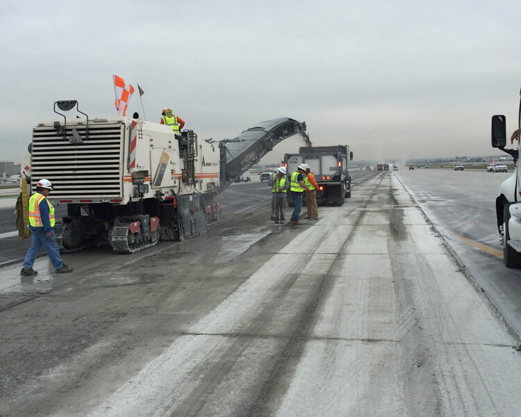 Photo from the work site of the Los Angeles International Airport