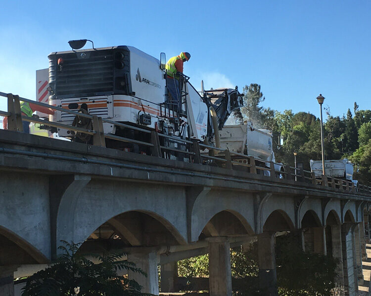 Photo from the work site of the Old Folsom Historic Rainbow Bridge