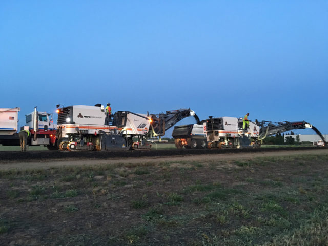 Photo from the work site of the CHP High Speed Race Track