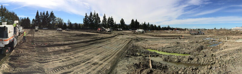Photo from the work site of the Apple Campus in Cupertino, CA