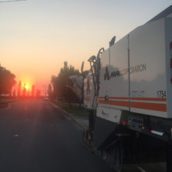 anrak truck in the sunset
